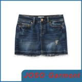 Dark Blue Girls Denim Mini Skirts (JC2018)
