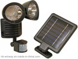 22 LED Cheap Price Twin Solar Spotlight with Sensor