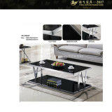SGS Certification 600X600X430 Square Glass Top Coffee Table (YF-170070T)