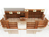 Wooden Veneer Display Cabinet for Men Shoes Shop, Shoes Retail Display Kiosk