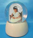 Ceramic Photo Frame Snow Globe