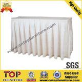White Wedding Banquet Table Skirt