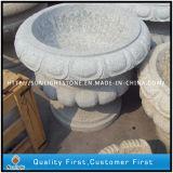 G603 Grey Granite Stone Carved Flower Pot / Garden Planter