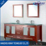 American Type Floor Standing Commercial Double Sink Bathroom Vanity