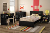 Modern Black Apartment Bedroom Furniture Set for College Student (SZ-BF075)