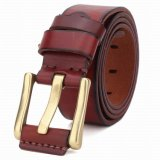 High Quality Real Leather Man′s Cowhide Leather Belt (RS-131258)