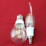 CE RoHS Approved 2W 4W Dimmable Filament LED Bulb (A60 C37)