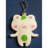 OEM Design Frog Soft Plastic Keychain