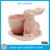 Dorable Bunny Shape Ceramic Egg Cup