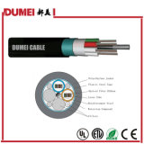 24 Cores Gydts Outdoor Ribbon Optical Fiber Cable for Network