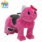 Furry Kitty Coin Operated Animal Zippy Rides for Shopping Mall