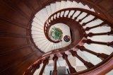 2015 Hangzhou Welbom Dark Red Antique Product Spiral Stair Designs