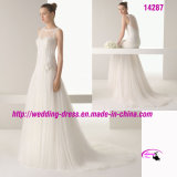 Pretty Full Length Wedding Dress with Buttons Back