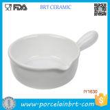 for Sale White Ceramic Fry Pan Style Cake Pan