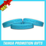 Hot Sale Debossed Silicone Band Wristband Rubber (TH-band002)