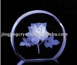 Crystal Inner Laser Rose for Souvenir