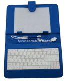 8 Inch Tablet Wired Keyboard with PU Case