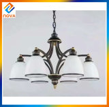 Latest Type Handmade Glass Shade Iron Art Chandelier Lamp