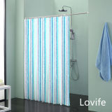 Shower Curtain Bathroom Waterproof Curtain (JG-233)
