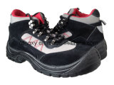 Black Suede Sport Style Safety Shoes (HQ03032)