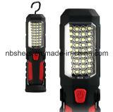 Rechargeable Cordless 36+1 LED Working Light Flashlight Magnetic Base, Backside