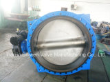 Dn1200 Pn16 Di Ggg50 Flange Butterfly Valve with Worm Gearbox