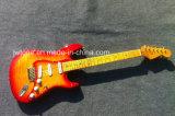 Cherryburst Flamed Maple Top Wilkinson Pickups Flamed Maple Vintage Neck OEM St Electric Guitar