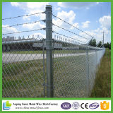 Hot DIP Galvanized Chain Link Fence with Razor Wire