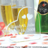 Heart Shape Acrylic Souvenir Block with Custom Logo