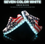 Christmas Fashion Flat LED Casual Shoes with 8 Mode Lighting