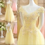 Best Selling A-Line Sweetheart Neckline Beaded Yellow Organza Cocktail Dresses Short