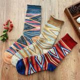Retro Colorful Novel Design Patten Children Dress Sock