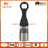 Manual Operate Salt Pepper Mill with Bottle Opener