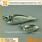 Silver Flamingo Shape Handmade Ceramic Plates&Dishes for Weeding Decoration