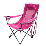 Outdoor Camping Chair with Armrest Leisure Chair with Pillow