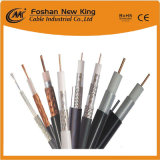 75 Ohm Triple Shield Rg59 Coaxial Cable with Black PVC Jacket for CCTV/Satellite System
