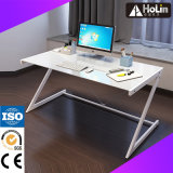 Home Office Furniture Glass Table with Metal Frame