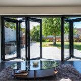 Double Tempered Glazing Aluminium Folding Door Grill