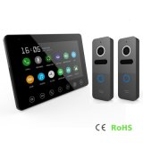 7 Inches Interphone Video Door Phone Home Security Intercom with Memory