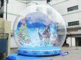 Transparent Inflatable Snow Ball Christmas Decoration