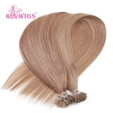 K. S Wigs Color #10 Virgin Remy Human Hair Extension I Tip Hair