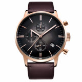 2017 Top Brand Luxury Leather Fashion Casual Sport Clock Men Wristwatches