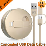 Concealed USB Data Cable for iPhone and Android