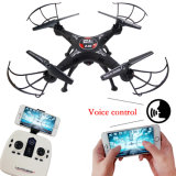Fpv Voice Control Drone 2.4GHz 4CH 6-Axis Gyro WiFi APP Romote Control Helicopter Airplane Toy with Altitude Hold and Gravity Sensor Headless Quadcopter Drone