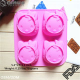 FDA SGS Approved Kitty Cat Shape Silicone Cake Mold