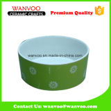 Round Ceramic Roasting Baking Bowl of Printing Finished