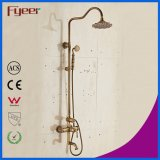 Fyeer Antique Bath Shower Set Wall Mounted Exposed Shower Faucet
