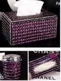 Glitter Rhinestone Sparkly Luxury Clean Bling Box for Napkin Box Paper Holder Box (TB-011)
