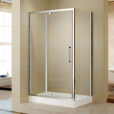 High Quality Aluminum Frame Pivot Shower Door with Acrylic Shower Tray (K-P12)