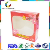 Gloss Lamination Clear PVC Pet Window Paper Box for Cosmetic